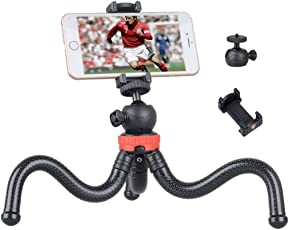 SoloFlix 360 Degree Gorillapod Tripod with Flexible Stand (Black and Red, SOL1001)