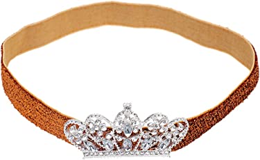 Magideal Golden Rhinestone Crown/Hairband for Bay Boys and Baby Girls