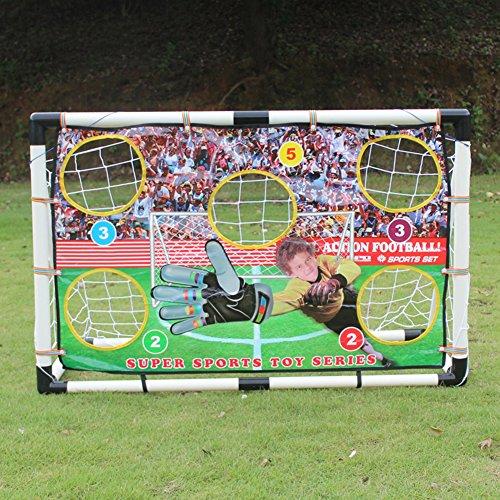 JAYLONG faltbar tragbar Fußball Training Target Net für Kinder/Kids Pop-Up Fußball Ziel für Kinder zu Indoor, Outdoor, Fußball, Tor