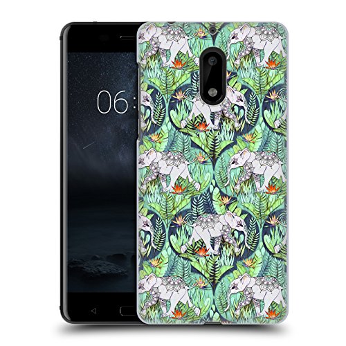 Head Case Designs Offizielle Micklyn Le Feuvre Baby Elefant Und Dschungel-Abenteuer Tiere Ruckseite Hülle für Nokia 6