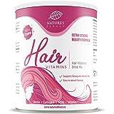 Nature's Finest Hair Vitamins per 30 giorni | Integratore in Polvere a base di Biotina, Collagene, Vitamina C e MSM | Capelli