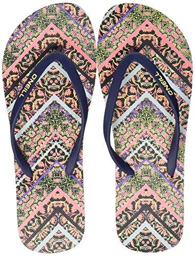 O'Neill Damen FW M & M Print Sandals Riemchensandalen, Blau (Blue W/Pink 5941), 38 EU