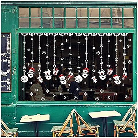 Hilemi® Natale Neve Palla Casa Vinile Finestra Della Adesivi sticker Murali Decal Decorazione