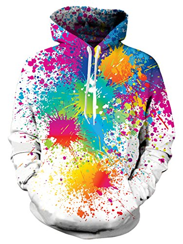 NEWISTAR Unisex Funny Christmas Patterned Sweatshirts Kapuzenpullover Men Colourful HD 3D Printed Pullover