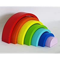Paras   7 PC Rainbow Stacker Toy 7 Piece Wooden Stacking Toy Round Stacking Wooden Block (Paras Original Color)