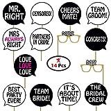 #5: Party Propz™ Bachelorette theme Photo props set of 14 / bachelorette party supplies / photo booth props / wedding props