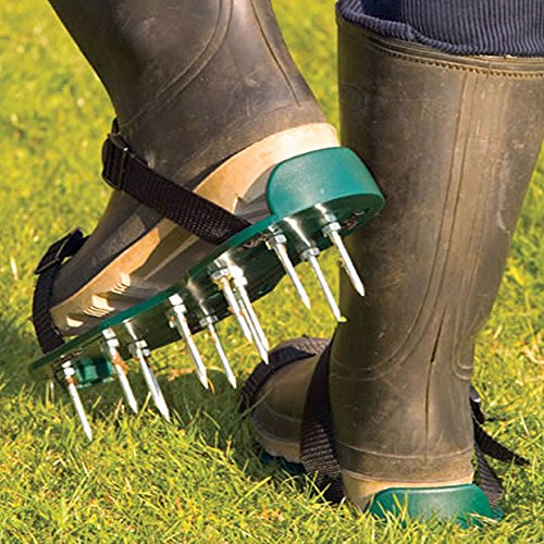 deluxe-lawn-aerator-sandals-spiked-shoes-26-spikes-secure-strap-multicolor-2