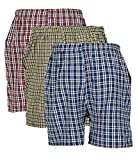 BIS Creations Men's Cotton Boxers (Red, Blue, Yellow, Free Size) - Pack of 3