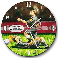 Idea Regalo - Divertente Orologio da parete Arbitro Calcio ub0020von Veit S