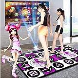 TYZY Almohadilla de Baile de Alta definición Espesar Estera Computadora de TV inalámbrica Danza de la Mano Cuerpo sensación Juego Manta de Baile para Dos 165 * 95 cm