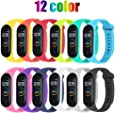 STN Compatible With Xiaomi Mi Band 4 Band Bracelet, Silicone Replacement Straps for Xiaomi Mi Band 4 Smart Band NFC Color Display Strap