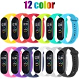 STN Compatible With Xiaomi Mi Band 4 Band Bracelet, Silicone Replacement Straps for Xiaomi Mi Band 4 Smart Band NFC…