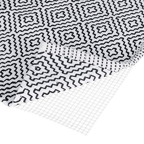 Relaxdays Antirutschmatte für Teppich, zuschneidbare Rutschmatte, Teppichunterlage, Rutschschutz, BxT: 80x200 cm, weiß
