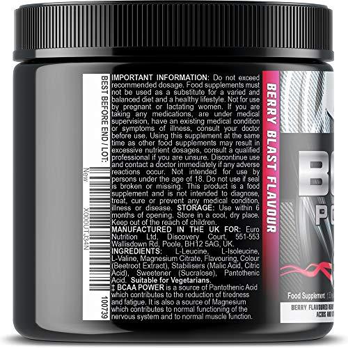 61de%2Bi4ZikL. SS500  - Iron Labs Nutrition, BCAA Power - 15,000mg BCAAs Per Serving - Intra Workout BCAA Supplement Drink - Berry Blast Flavour…