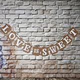 Veewon Vintage Wedding Bunting Banner Photo Booth Props Signs Garland Bridal Shower Wedding Decoration -