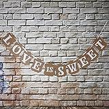 Veewon Vintage Wedding Bunting Banner Photo Booth Props Signs Garland Bridal Shower Wedding Decoration -