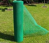 1,2m² MASCHENGEWEBE in 1,2m Breite in grün Kunststoffzaun Baustellenzaun Geflügelzaun Hühnerzaun Gartenzaun Zaun Rankhilfe (METERWARE)
