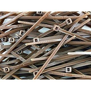 All Trade Direct Braun 500 X Kabelbinder 100 mm X 2,5 mm, Alle Größen auf Lager