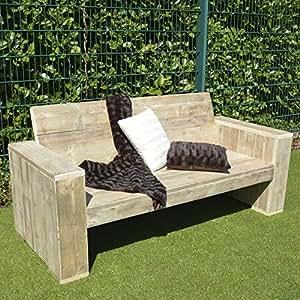 lounge bank garten m bel bauholz 100x200x80cm natur kleinm bel k che haushalt. Black Bedroom Furniture Sets. Home Design Ideas
