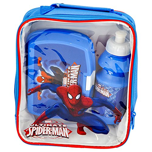 Image of Marvel 4105V-6162 Bag/Sandwich Box and Bottle Ultimate Spiderman Lunch Set (3-Piece)
