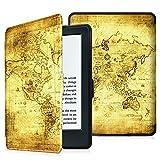 Fintie Étui Toute Nouvelle Liseuse Kindle - Housse Flip Ultra Mince et léger avec Fonction Réveil/Sommeil Automatique pour Amazon Kindle (8ème Génération - Modèle 2016), Ancient Map