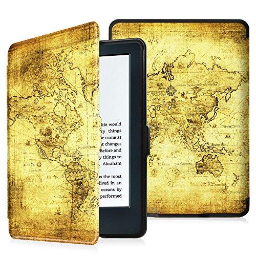 """Fintie E-reader Kindle Cover - Custodia Ultra Sottile Leggero con Sonno Auto / Sveglia la Funzione per Amazon E-reader Kindle, schermo touch da 6"""" anti riflesso (8ª Gen - modello 2016), Ancient Map"""