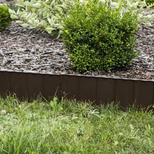 Bordure Da Giardino In Plastica.Cordolo Bordura Da Giardino 5 8 M Di Plastica Resistente Colore Marrone