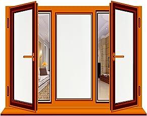 RH Art RH Fensterfolie Anti-UV Sichtschutz Blickdicht Milchglas Selbstklebend Mattiert, 44 x 200cm
