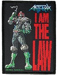 Antología RAX parche–I Am The Law–Anth RAX Patch–tejida & licencia oficial.