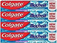معجون أسنان جل ماكس فريش كول مينت من كولجيت - 4 × 75 مل