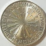 Münzen für Sammler BRD Schönnr: 130F (49) Olympiade München, Stempelglanz 1972 10 DM Silbergedenkmünze