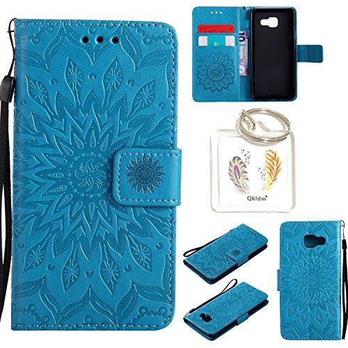 Preisvergleich Produktbild für Samsung Galaxy A3 2016 ( A310 F ) Geprägte Muster Handy PU Leder Silikon Schutzhülle Handy case Book Style Portemonnaie Design für Samsung Galaxy A3 2016 ( A310 F ) + Schlüsselanhänger/*5 (3)