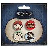 Harry Potter Button 4er Set Chibi Ron Draco Ø2,5cm