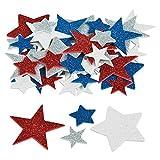 100 x Glitzer Sterne Aufkleber Sternenhimmel Stars USA Sticker Party Basteln DIY