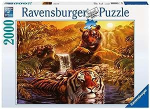 Ravensburger - 16646 - Puzzle - Le Bain des Tigres - 2000 Pièces