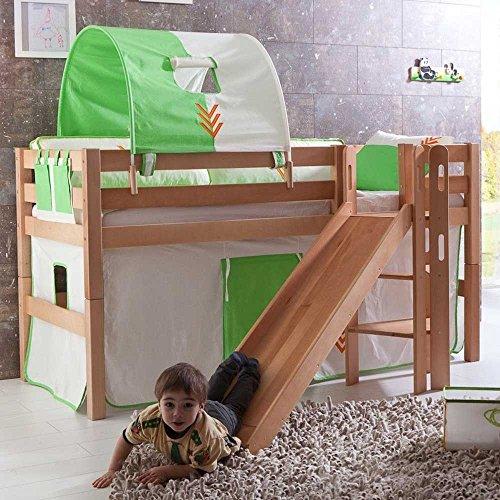 Kinderhochbett Benedict mit Rutsche Pharao24