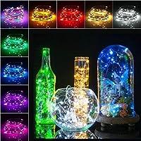 Sisaki Luces LED para Botella Luces de Corcho Cadena de Luces de Navidad la Decoración del