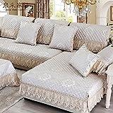 JIXIA Sofas Hüllen 1-Teiliger elastischer Sofa-Überzug für Wohnzimmer I Geformter Sofa-Schutzhülle für Sofa-Elastische Waschbare Abdeckung für Sofa, Euro, 60*70+ Side