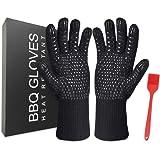 Feliciay Bbq-Handschoenen 1472 ℉ Extreem Hittebestendige Ovenhandschoenen Keukenkoken Grillhandschoenen Siliconen Antislip Ba