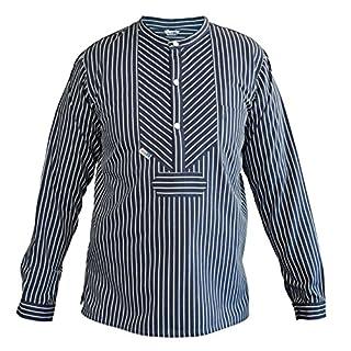 Modas Finkenwerder Fischerhemd BasicLine breit gestreift, Größe:Herren. XXXL