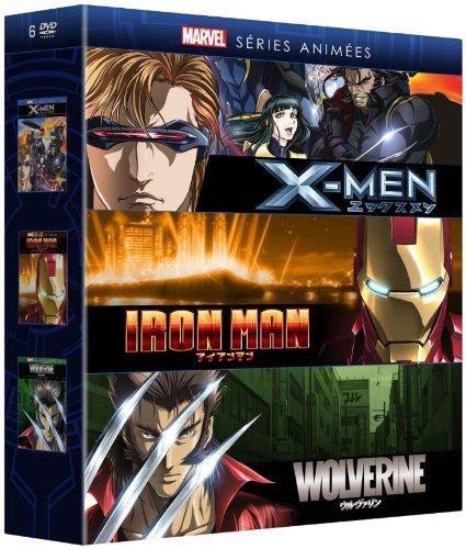Coffret marvel animés : iron man ; wolverine ; X-men [FR Import] (Boss Coffret)