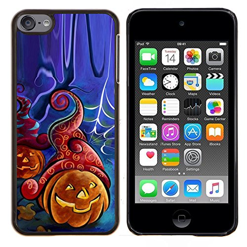 Graphic4You Halloween Allerheiligen Thema Kürbis Design Harte Dünn Hülle Tasche Schale Schutzhülle für Apple iPod Touch 6 (Mp3 Halloween 6 Thema)