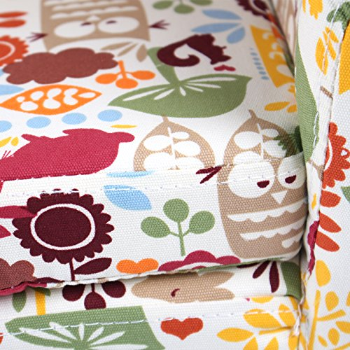 Emall Life Kid's Armchair Children's Tub Chair Cartoon Sofa Wooden Frame (Owl)