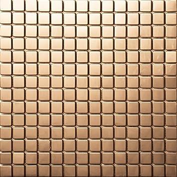 Rose Golden Farbe Edelstahl Spiegel / Pinsel 3D Heim Und Küche Wand  Dekoration Mosaik Fliesen Design Paket Von 11 Stück 30x30cm, SA003 8 (11  Stücke/pack, ...