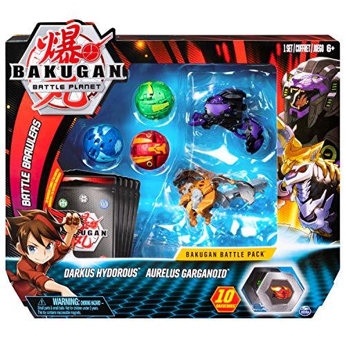 Bakugan 6054981 - Battle Pack mit 5 Bakugan (Ultra Darkus Hydorous, Ultra Aurelius Garganoid, Basic Pyrus Trox, Basic Aquos Fangzor, Basic Ventus Dragonoid)
