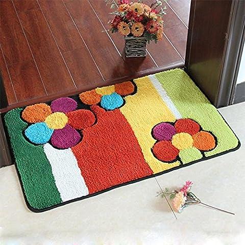 GUO-Fiore fumetto tastiera semi-circolare acqua assorbimento anti-scivolo tappetini morbido carpet50 * 80cm invia uno
