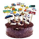 Geburtstagskuchen Topper Party Dekoration, Kuchen Topper Dekorationen für Kuchen und Festival mit benutzerdefinierten Namen und Alter personalisiert. Doppelseitige 400 Gramm Glitter Card