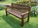 Gartenbank 3-Sitzer 162x69x90cm Holz extra stabil Eukalyptus FSC