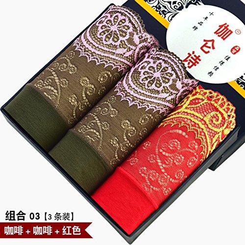 Bambus Faser Damen sexy Unterwäsche Unterwäsche slip Taille hohe Taille Größe 3 pcs, o, m Greatlpk d