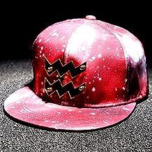 XRQ-Doce hombres constelación de estrellas, sombrero, un sombrero, una gorra de béisbol, todos-match, hembra, personalidad, plana a lo largo del hip-hop, tapa roja estrella Acuario